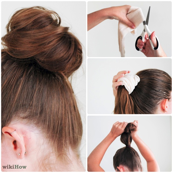 Foldover elastic diy 5 fast and easy ways to accentuate your hair if youre feeling adventurous try out all the other newer ways to tie a sock bun hairstylists and aficionados for having perfectly combed hairstyles have ccuart Choice Image