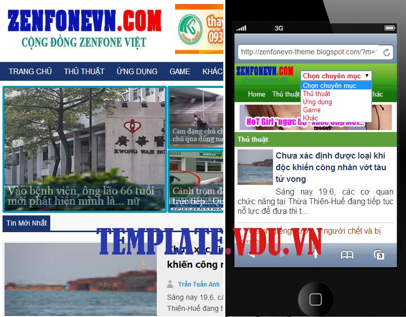 ZenFoneVN - Temlate Blogspot Chia Sẻ Game, Thủ Thuật Tin Tức - Có giao diện wap mobile di động