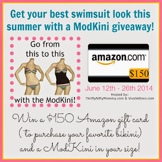 Enter the Modkini + $150 Amazon GC Giveaway. Ends 6/26.
