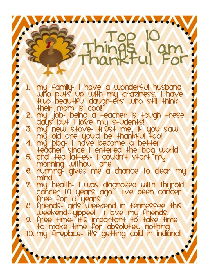 things you are thankful for essay Be happy with what you have, because it may be gone before you know it donate if you enjoyed this essay, please consider making a tax-deductible contribution to this i believe, inc.