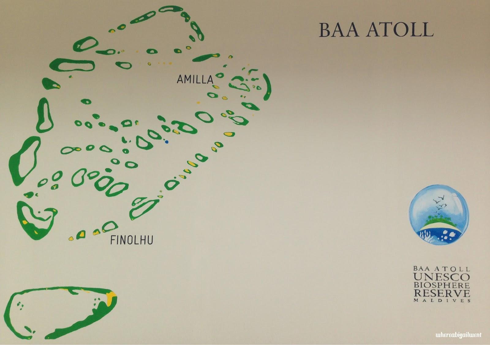 Baa Atoll Map Mural Amilla Fushi