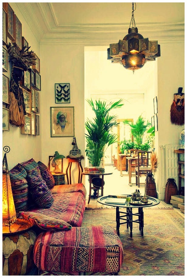 Rainbow the colours of india unmistakably bohemian for Interior of indian living room