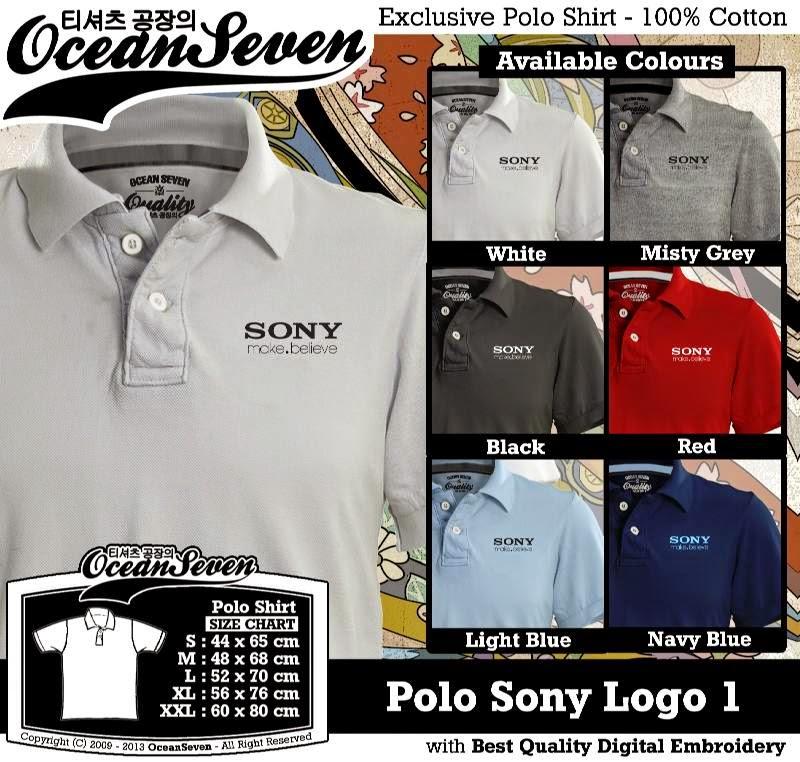 Kaos Polo Sony Logo 1