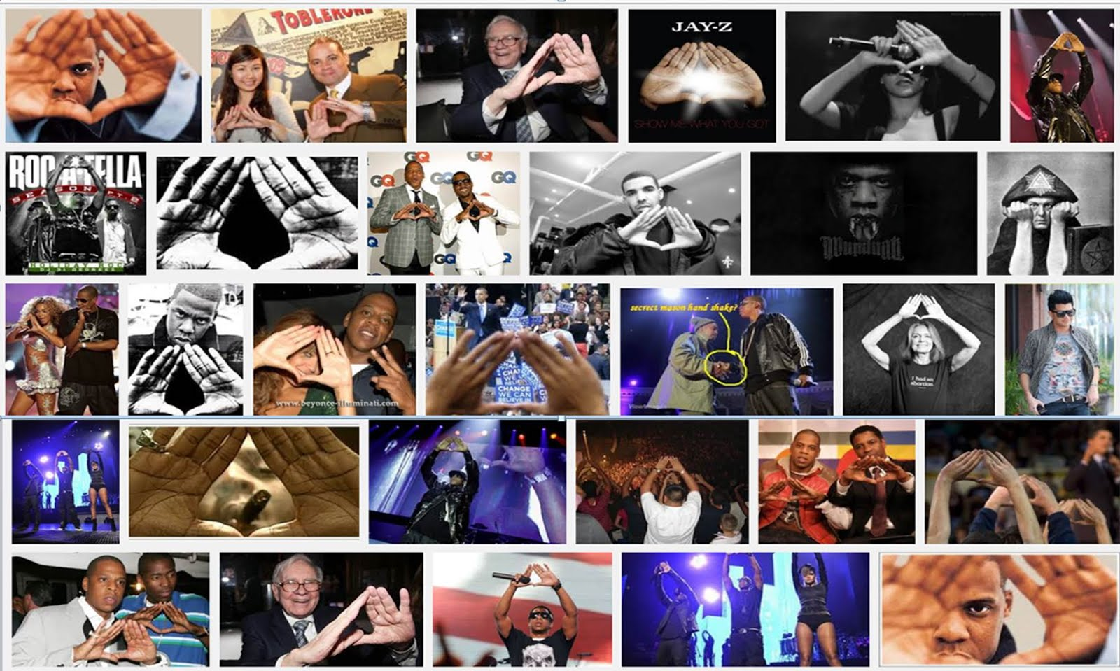 On Jay Zs Roc Illuminati Pyramid Hand Sign Symbol True Freethinker