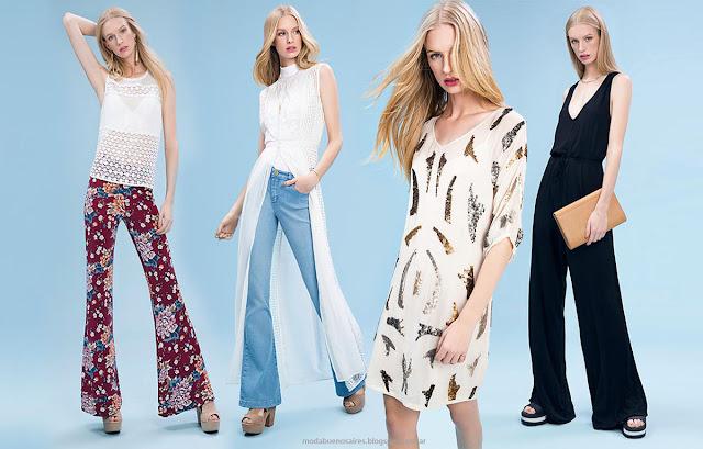Moda 2016. Basement tendencia de moda verano 2016 vestidos, monos, pantalones y blusas. Moda 2016.