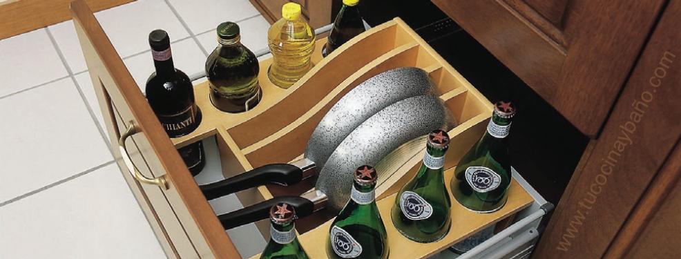 accesorio para organizar sarten en cajon cocina
