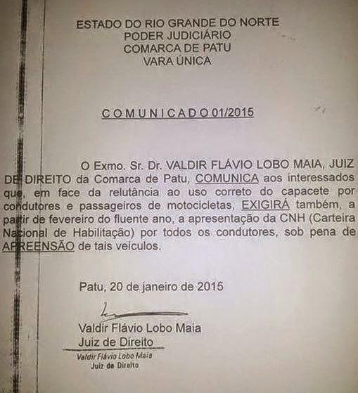 ALÉM DO CAPACETE, CONDUTORES DE MOTOCICLETAS DEVERÃO ESTAR DEVIDAMENTE HABILITADOS EM FEVEREIRO.
