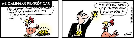 As Galinhas Filosóficas. a galinha dos ovos de ouro