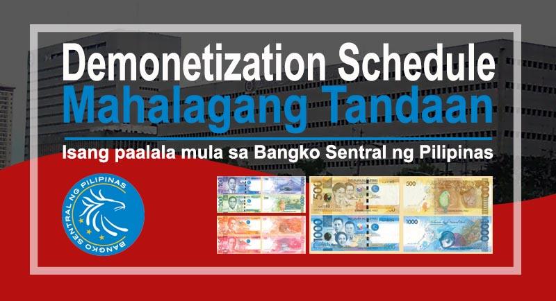 Demonetization Schedule Reminder - Bangko Sentral ng Pilipinas