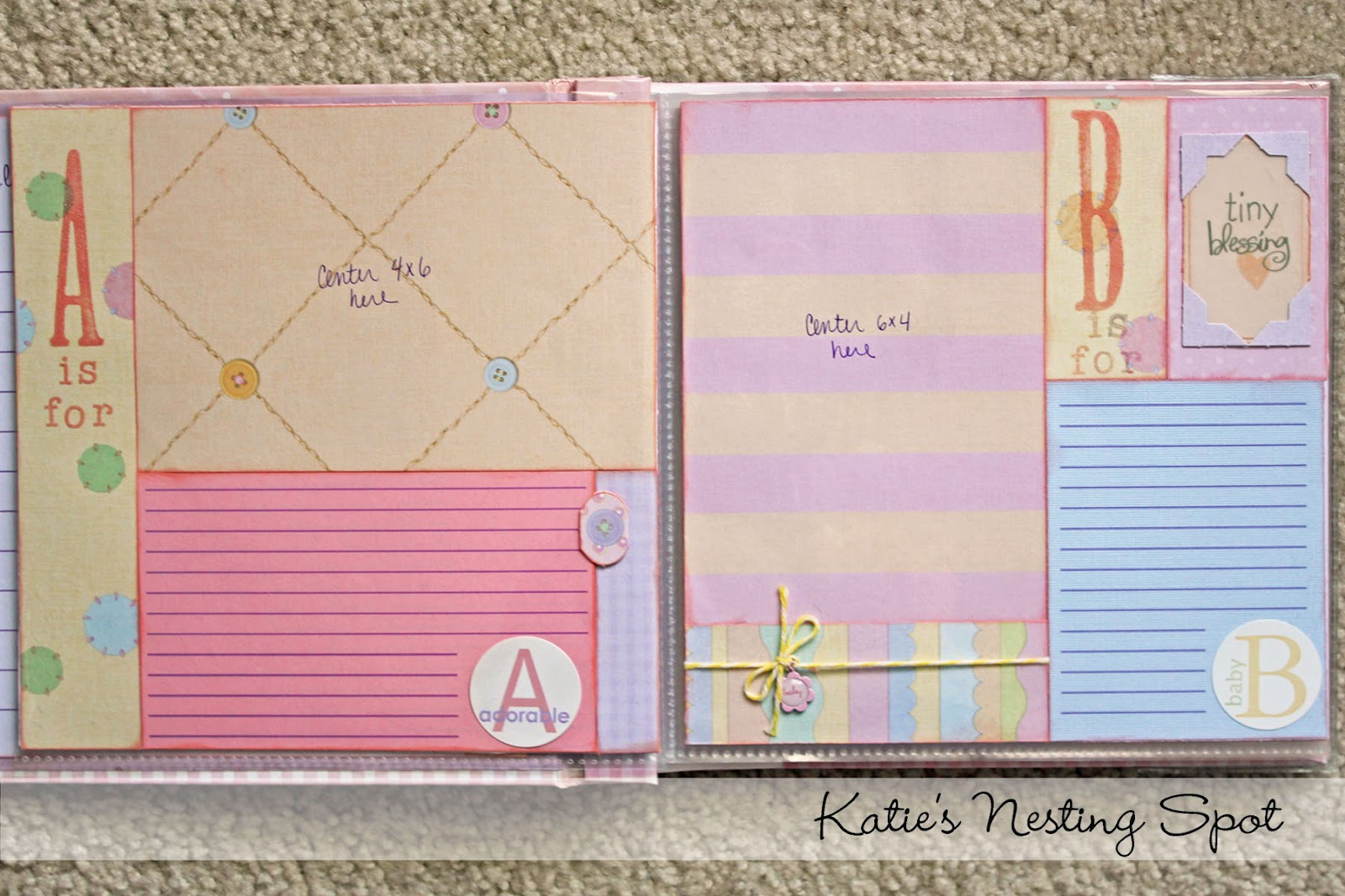 Scrapbook ideas abc album - For The Letter Pages I Designed A Number Of Basic Page Layouts And Reused Them Through Out The Book So The Design Process Was Easier