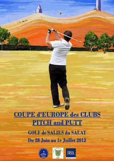 Cartel del Campeonato de Europa de Clubs de Pitch & Putt (IPPA)