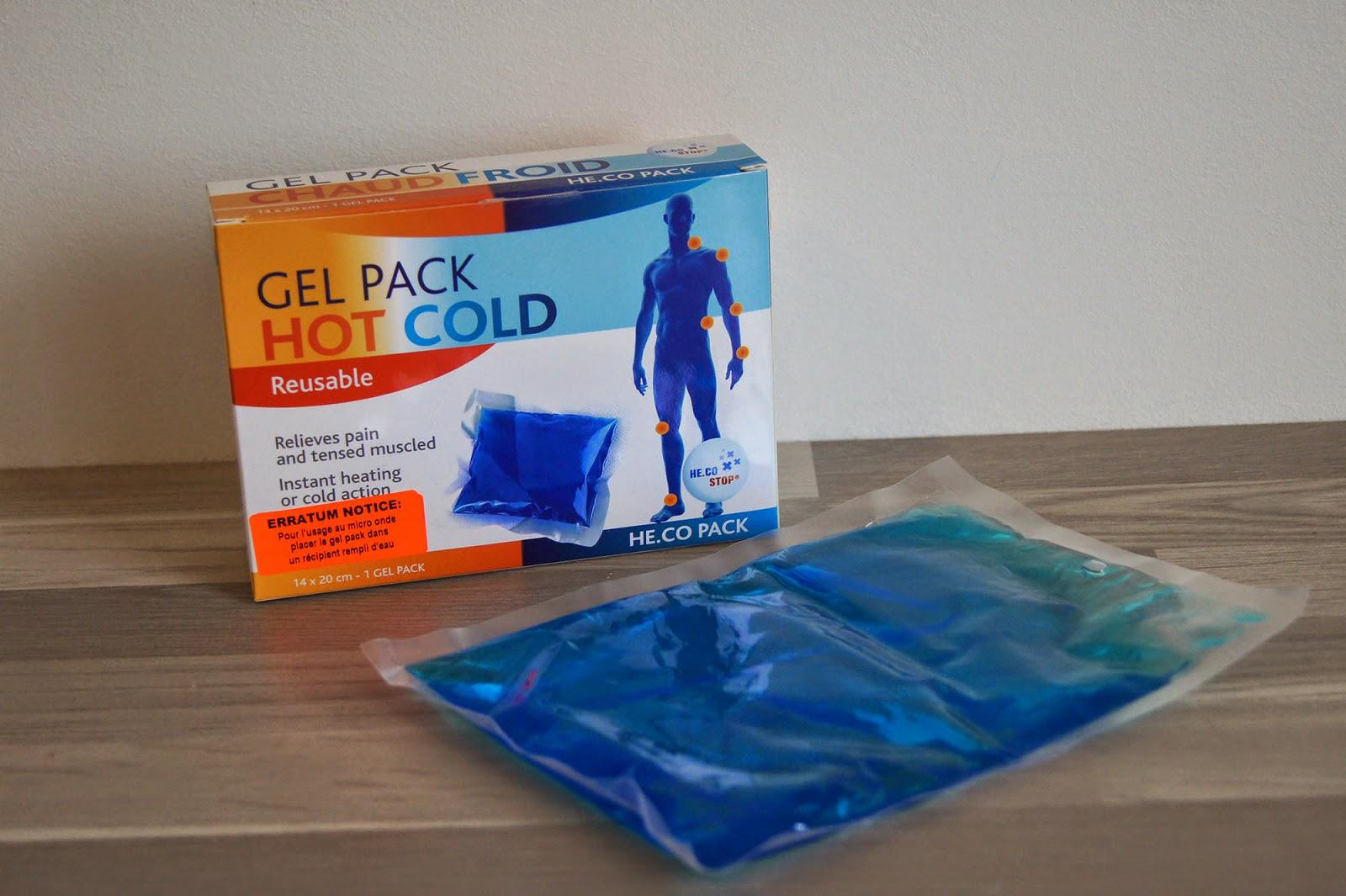 gel pack chaud et froid douleur tension