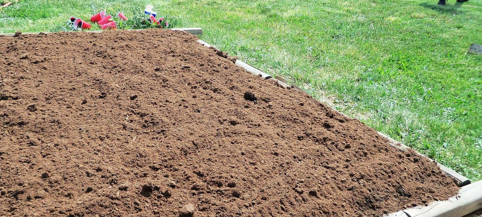 Grandma bonnie 39 s closet how to start a weed free raised for Backyard soil