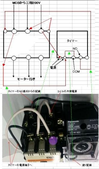 三相モーターをタイマー制御させるなら