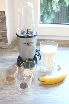 Zutaten für Bananen-Frühstücksshake
