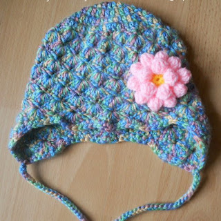 crochet earflap hat