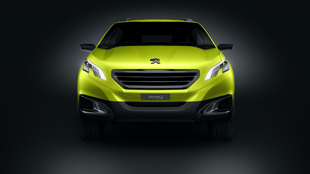 The Peugeot 2008 Concep front