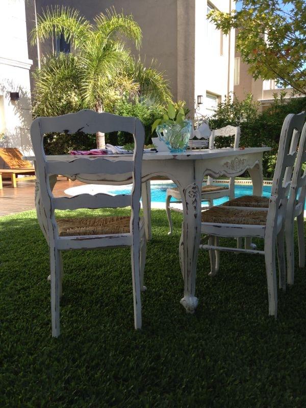 Vintouch muebles reciclados pintados a mano mesa - Sillas estilo provenzal ...