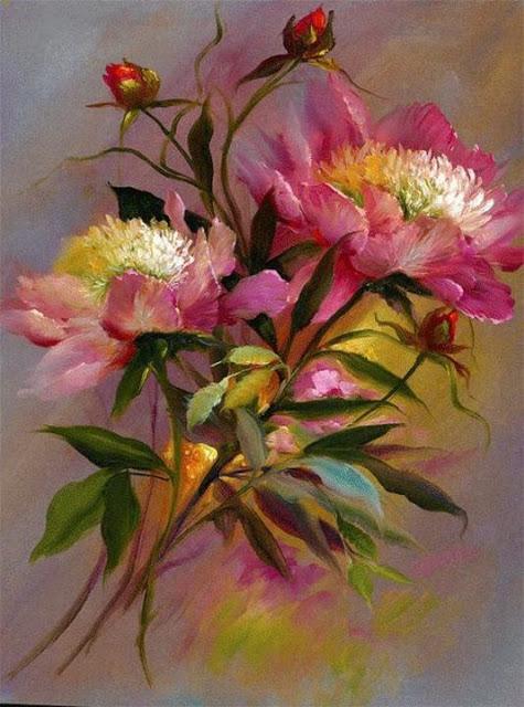 Fotos De Pintura De Flores - la pintura de la canasta con flores Descargar Fotos gratis