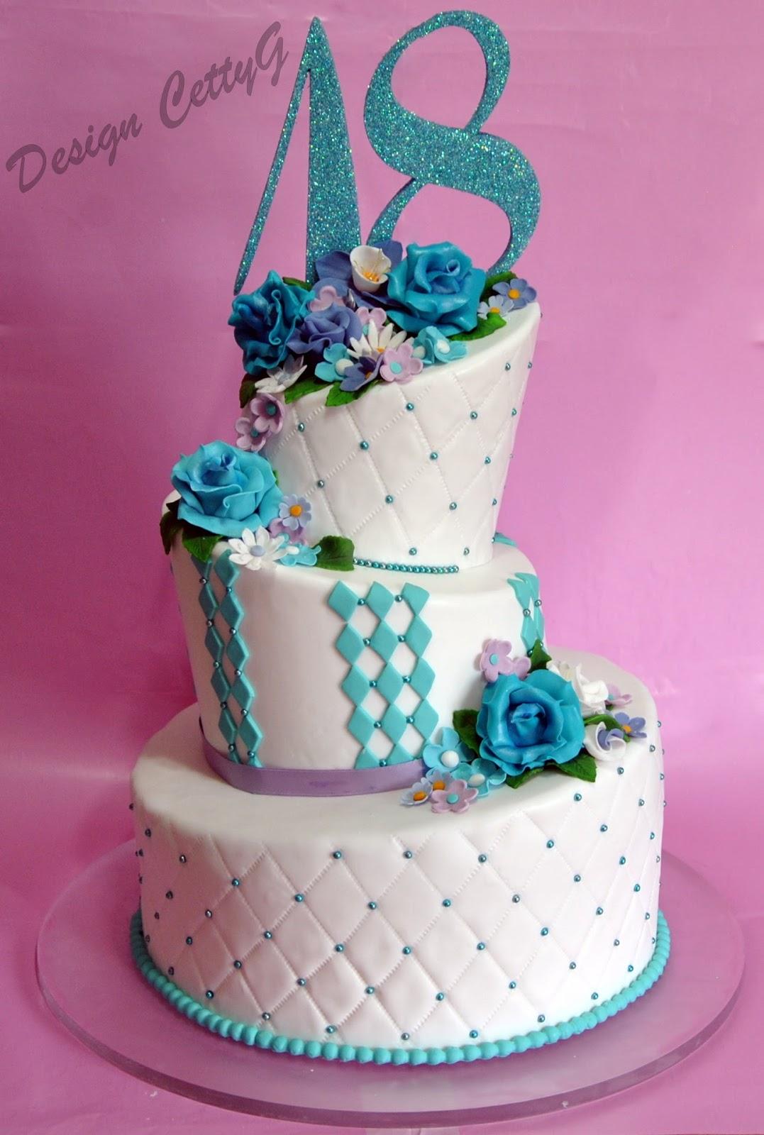 Wonky cake 18 anni le torte decorate di cettyg for Torte per 18 anni maschile