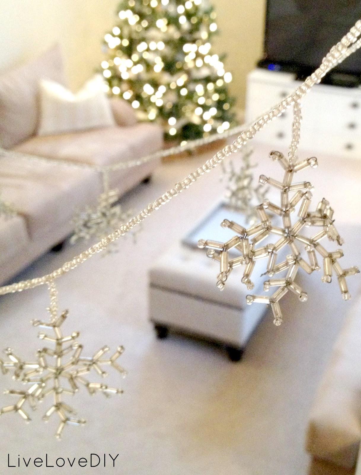 Livelovediy diy beaded snowflake garland