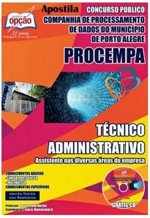 Apostila PROCEMPA Município de Porto Alegre - Técnico Administrativo - Concurso Publico 2014