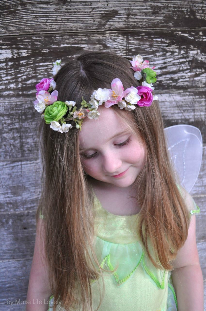 diy flower crown - make life lovely