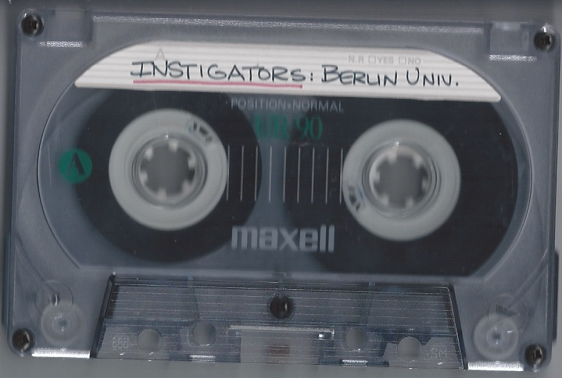 Instigators - Instigators Live At Huset, Arhus, Denmark, 15th February 1986