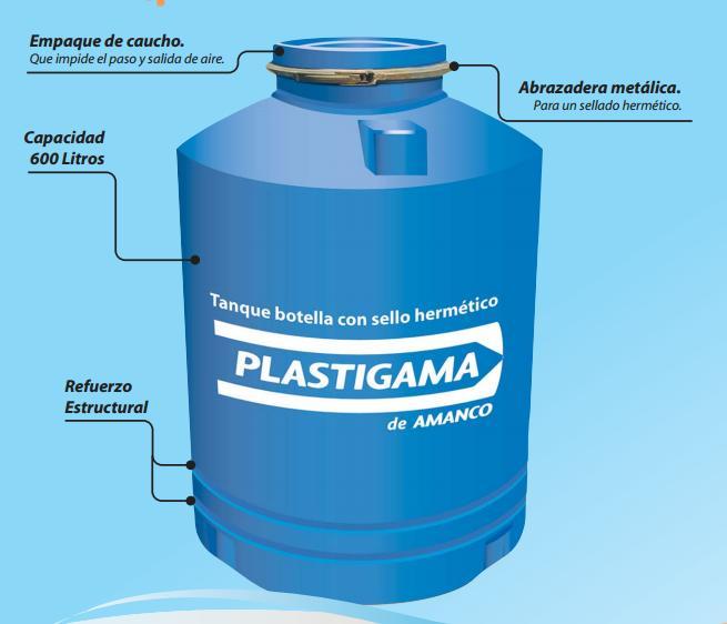 Plastigama tanque botella ferreteria industrial leon Tanque de agua 1000 litros