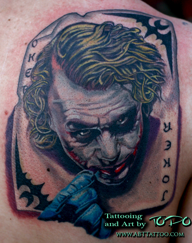 The Joker Tattoo Portrait By Todo