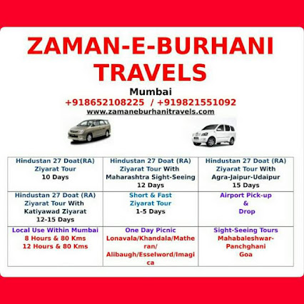 ZAMAN-E-BURHANI TRAVELS