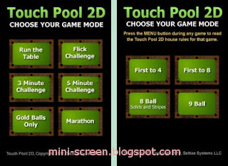 Free Touch Pool 2D Game Modes