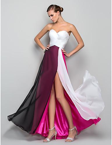 Vestido Largo Princesa en Tres Tonos
