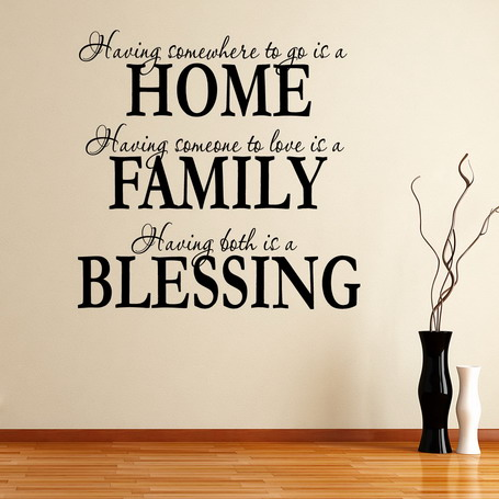 Beautyfull Family Quotes Bedroom Wall Decal Ideas