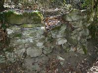 Restes de murs no identificats a la zona de Les Llobateres