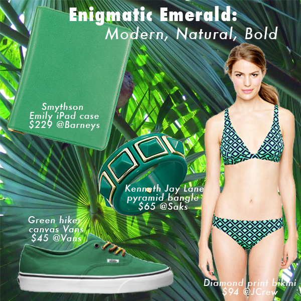 Green with envy for these accessories in emerald, Color of the Year for 2013! featured on shopalicious.com