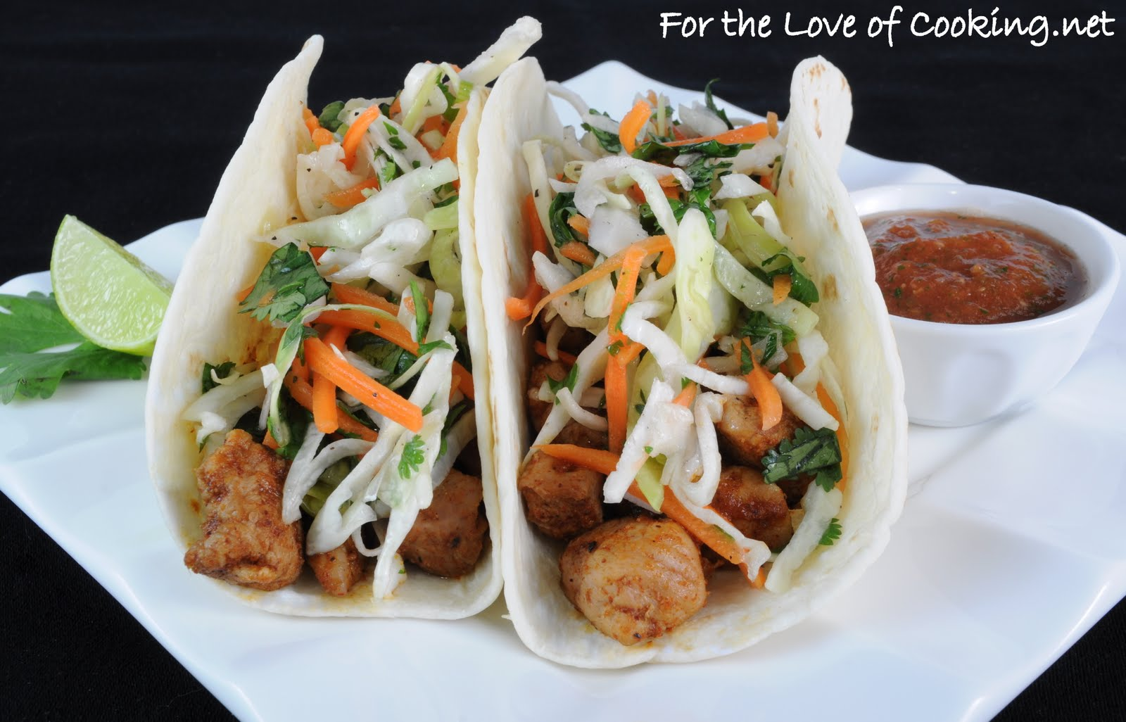 Pork Tenderloin Tacos With Tangy Slaw Recipes — Dishmaps
