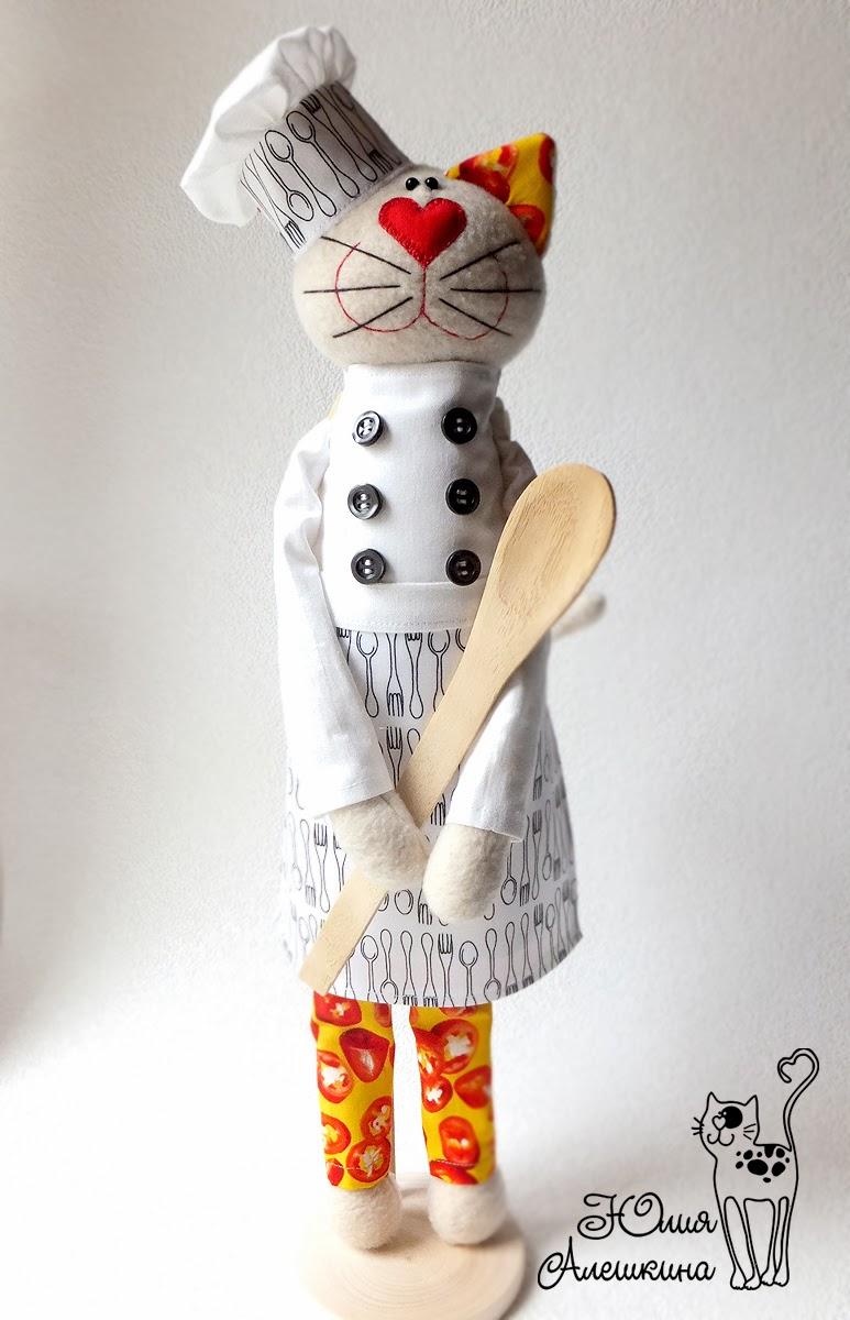 кот повар