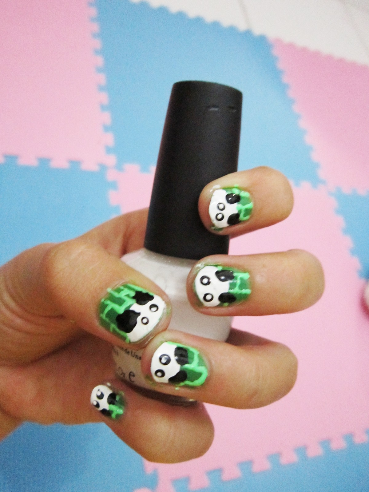 Mushiiedots diy panda in a bamboo forest nail art diy panda in a bamboo forest nail art prinsesfo Gallery