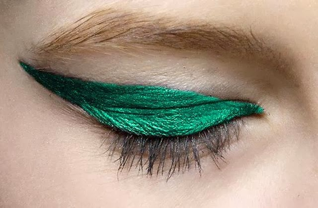 Tendance eye liner emeraude