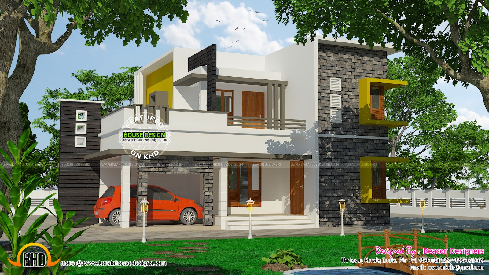 Good 3bhk Contemporary Home Part - 1: 3 BHK Modern Contemporary Home In 1890 Sq-ft