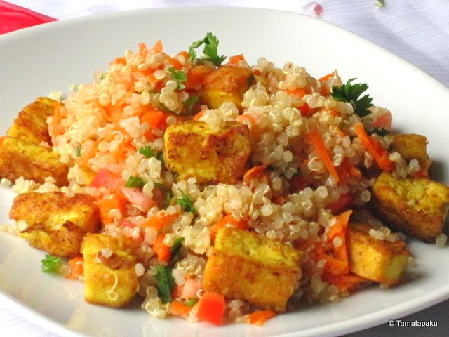 Curried Tofu Quinoa Salad