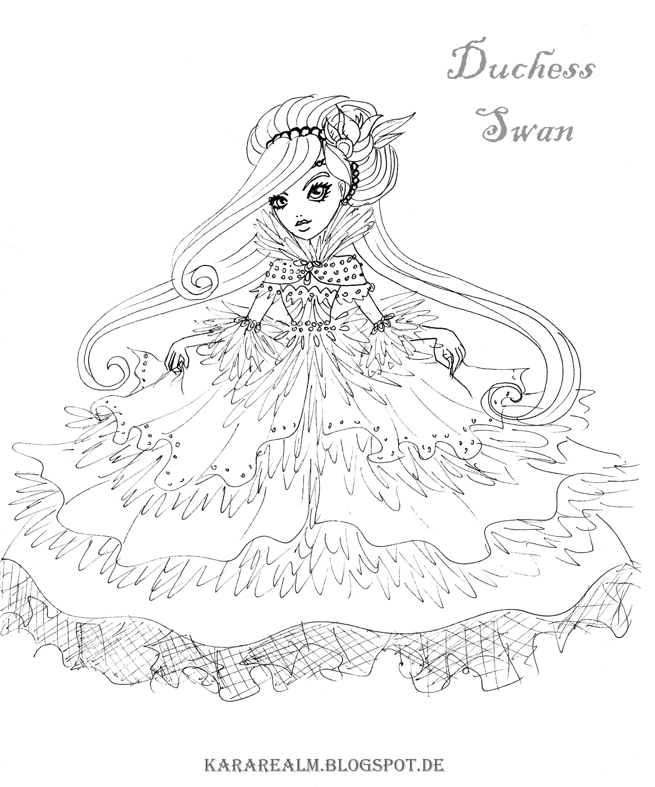 coloring pages ever after high - everafter free colouring pages