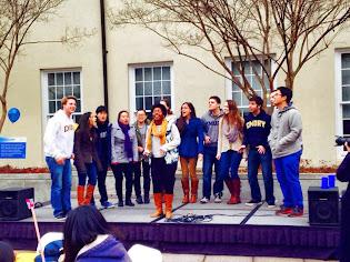 Singing at Founder's Day! Happy birthday, Emory!
