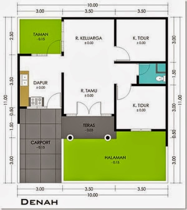 Model Rumah Minimalis Type 36 f