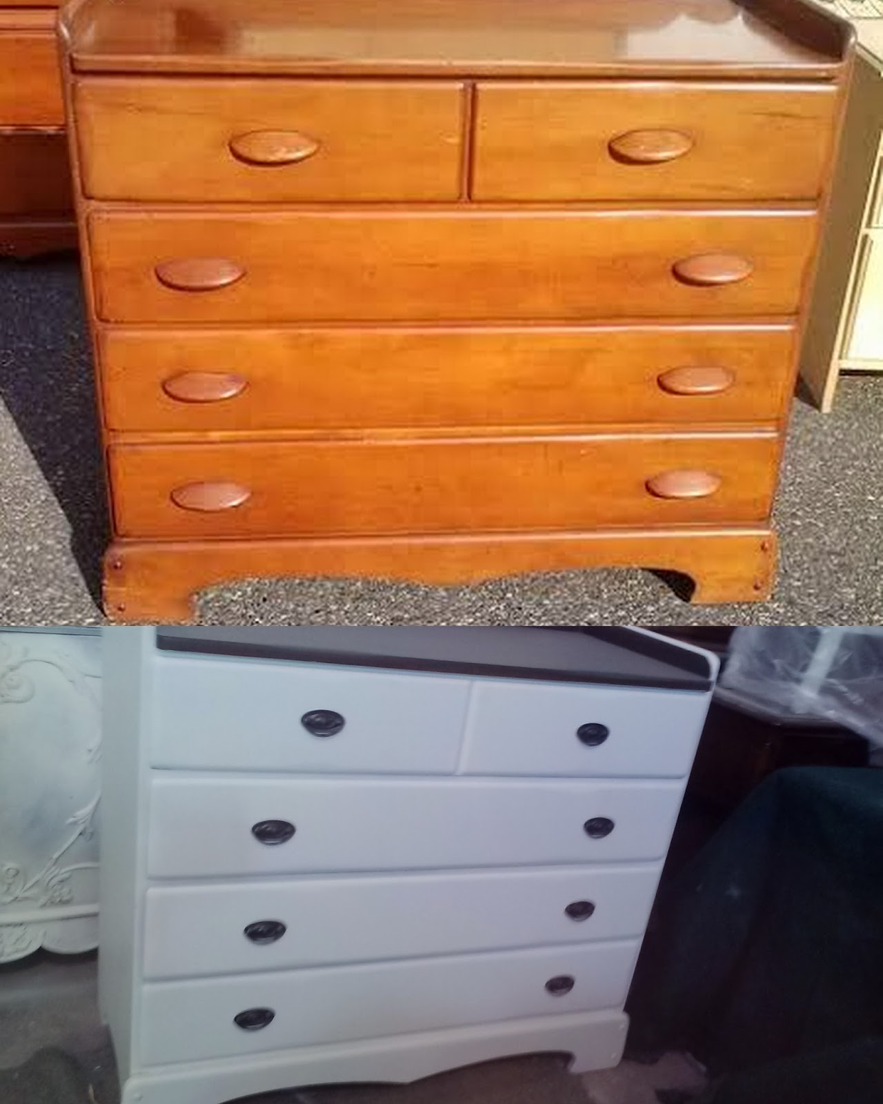 Before And After Shabby Chic Vintage Furniture Makeovers