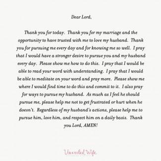 Unveiled Wife prayer