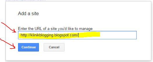 Mendaftarkan Blog ke Google Webmaster Tools