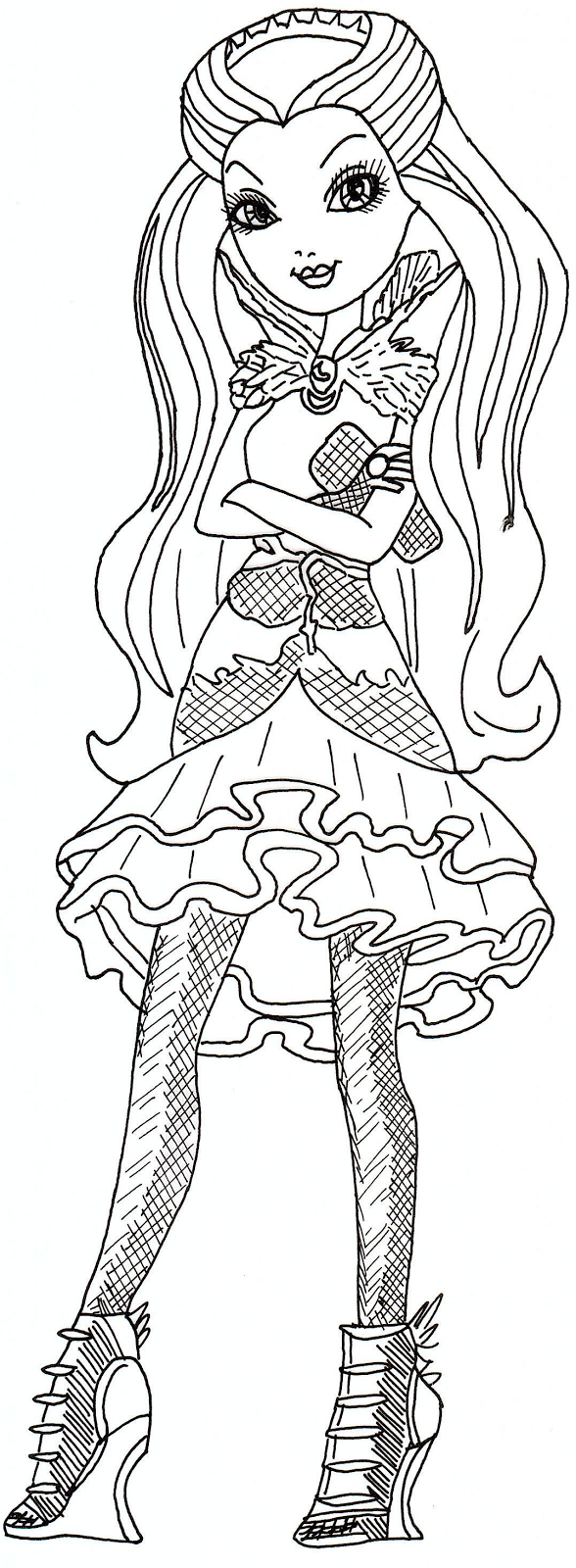 All about ever after high dolls june 2013 for Raven coloring pages