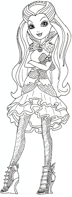 Raven Queen Coloring Page title=